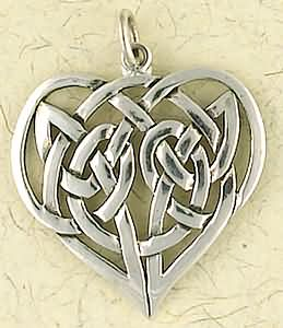 Sterling silver celtic heart pendant superstar hippiechick ltd celtic heart pendant aloadofball Images